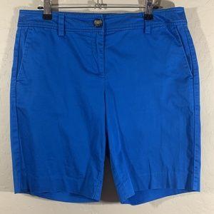 Ann Taylor Petite Signature Blue Shorts